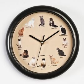 Meowing Cat Clock. Meows on the hour!