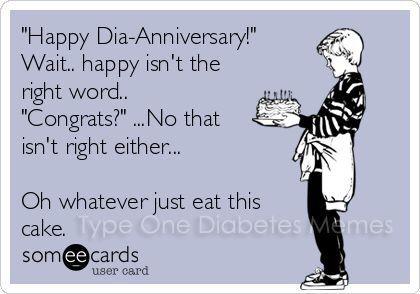 Happy Diaversary (Diabetic Anniversary)