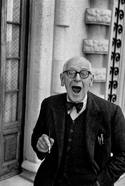 Magnum Photos - Rene Burri ITALY. 1955. Province of Liguria. Town of Imperia Oneglia. Swiss clown and variety artist Adrian WETTACH, alias GROCKLE, in his villa.