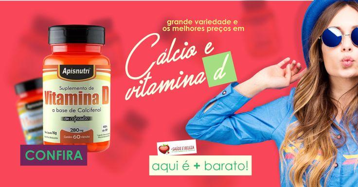 A maior variedade com os melhores preços em Cálcio e Vit D do Brasil você encontra aqui na Mais Saúde e Beleza. Aproveite!  Corra antes que acabe! Cálcio  http://www.maissaudeebeleza.com.br/d/16/calcio?utm_source=google+&utm_medium=link&utm_campaign=Vitaminas+e+Suplementos&utm_content=post  Vit D  http://www.maissaudeebeleza.com.br/d/27/vitamina-d?utm_source=google+&utm_medium=link&utm_campaign=Vitaminas+e+Suplementos&utm_content=post