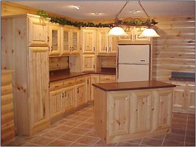 1000 images about furnishings for your knotty pine cabin for Muebles de cocina de madera rusticos