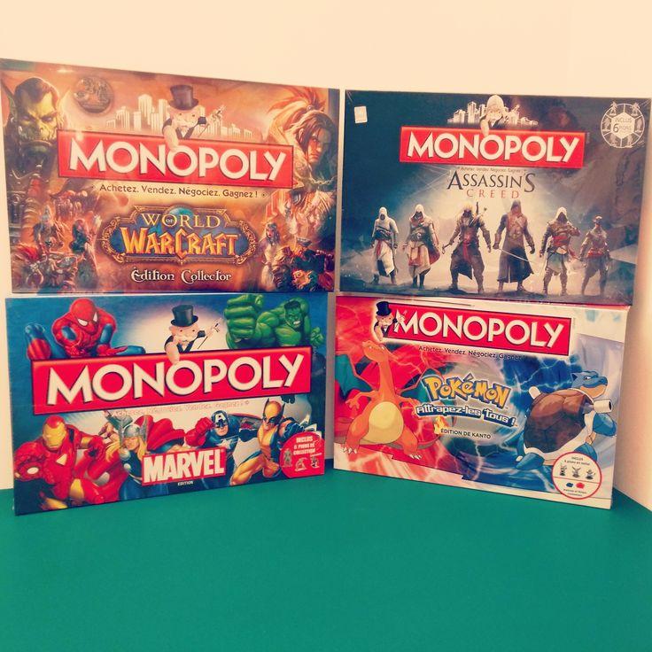 Monopoly édition collector francais ! #pokemon #Marvel #worldofwarcraft #assassinscreed en stock ^^
