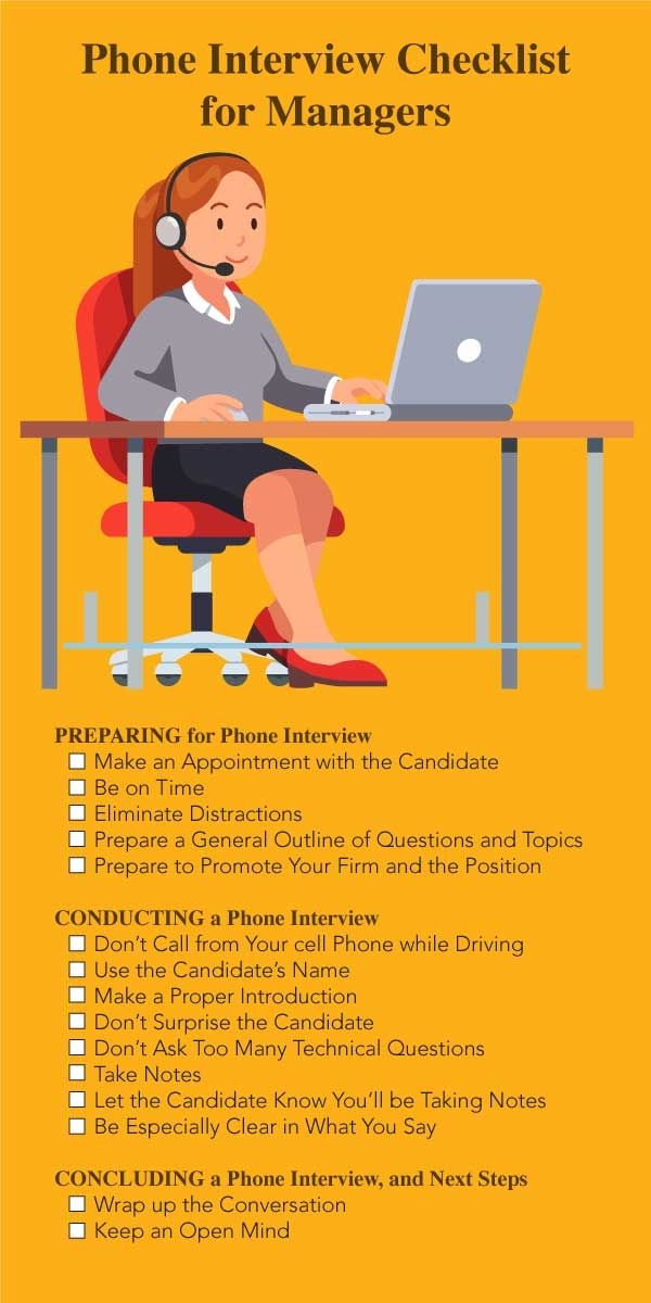 phone interview tips for managers