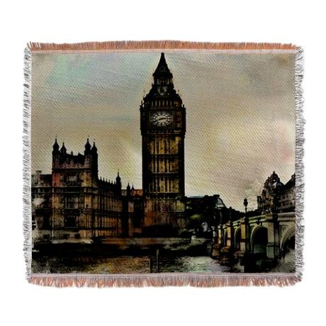 Big Ben Woven Blanket by AngelEowyn. $69.99
