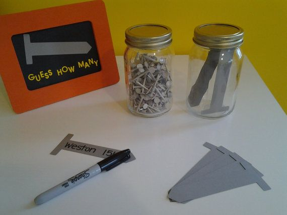Construction Themed Guess How Many Party Game by PartyKitsCLE
