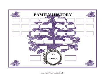 family tree template 4 generations
