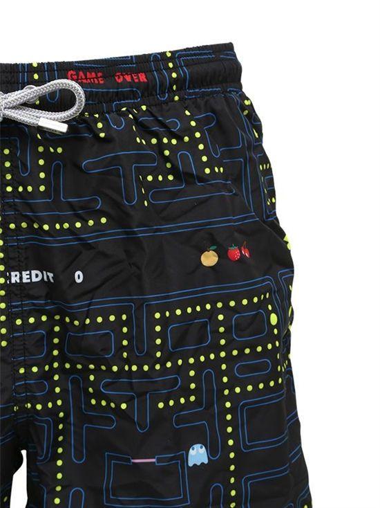 mc2 saint barth - men - swimwear - action pacman micro fiber swim shorts