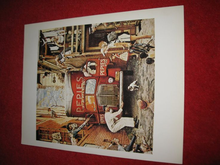 """vintage+Norman+Rockwell:+Traffic+Conditions+-+10""""+x+13""""+Book+Plate+Print"""