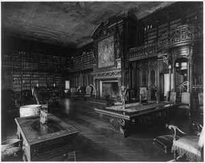 Library Biltmore House Vanderbilt Estate Asheville Buncombe County N C 1930 | eBay
