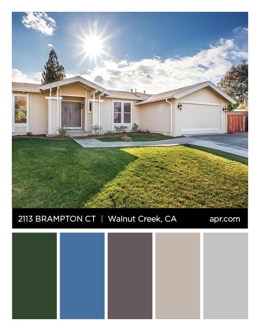2113 Brampton Court, Walnut Creek, CA 94598 color palette. #eastbay #walnutcreek