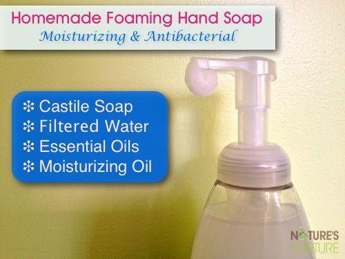 Homemade Foaming Hand Soap (Moisturizing & Anti-Bacterial) - Nature's Nurture