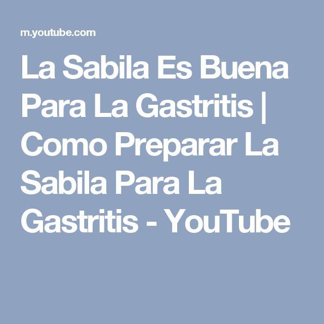 La Sabila Es Buena Para La Gastritis | Como Preparar La Sabila Para La Gastritis - YouTube