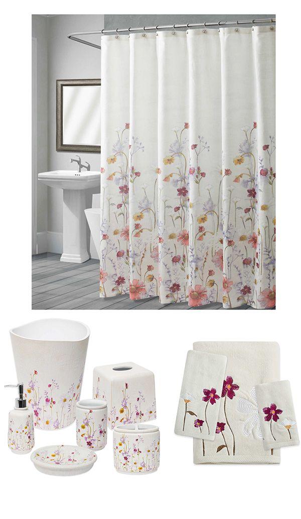 Croscill Pressed Flowers Bathroom Set Floral Decor Affiliate