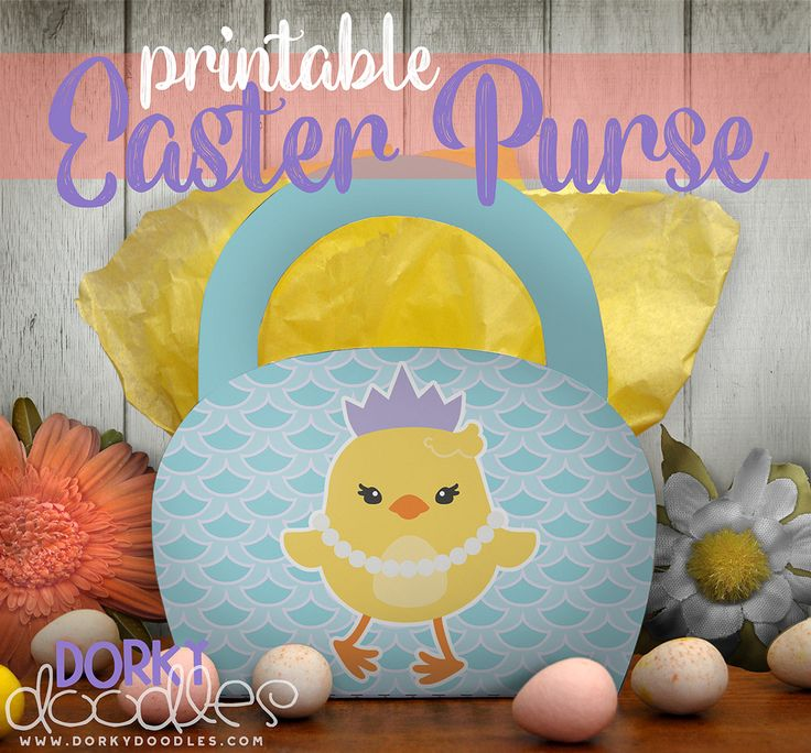 89 best easter images on pinterest easter recipes easter food printable easter purse super cute chick printable bag for easter is great for treats or as a small gift bag negle Image collections
