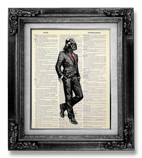 Darth Vader StarWars POSTER, College GRADUATION Gift inspirierende Poster, Wohnheim Wanddekoration, Cool einmaliges Geschenk ihm Mann, Darth...
