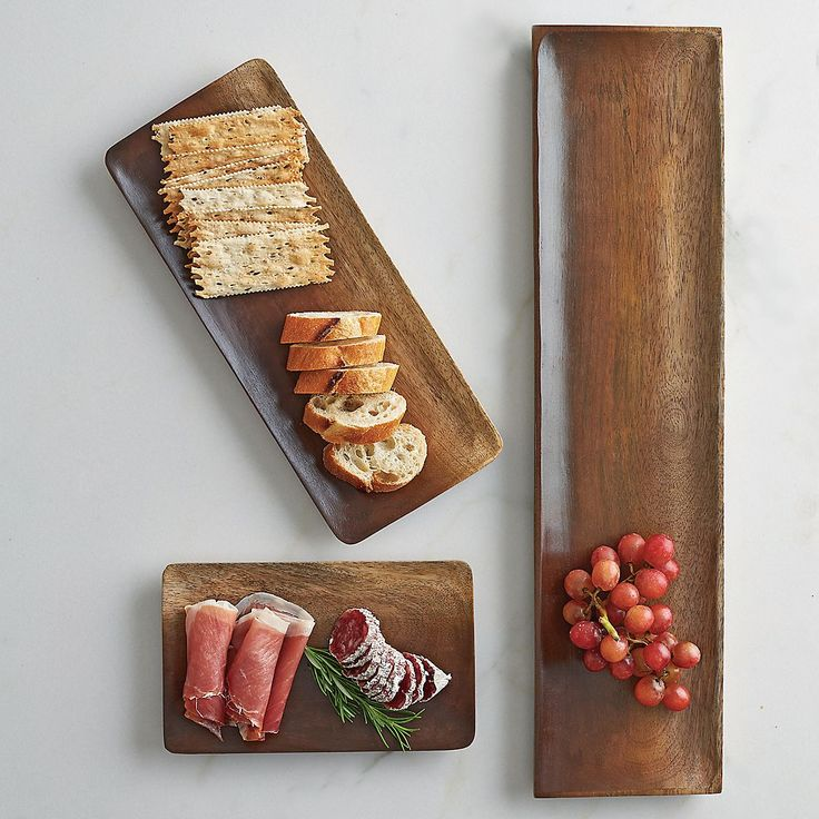 Long Wood Serving Tray with 2 Sliding Platters - itu0027s u201ctray chicu201d and handcrafted & 30 best Wooden serving platters images on Pinterest | Cutting boards ...