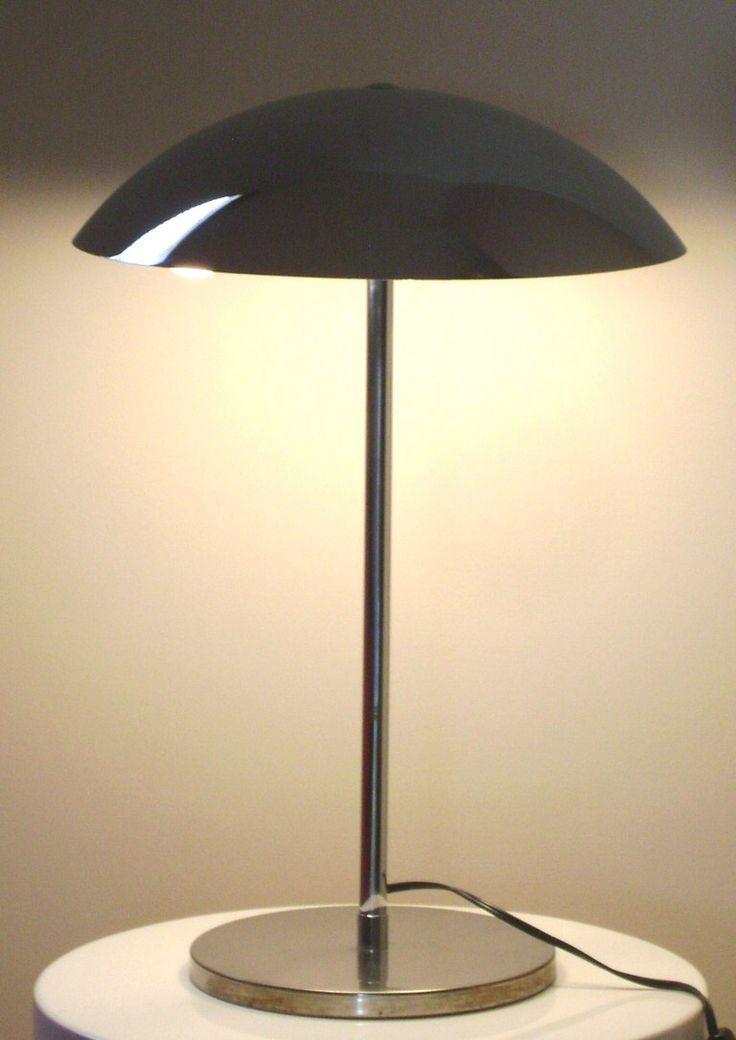 Lumess; Table Lamp, Chromed Metal, Switzerland, C1970