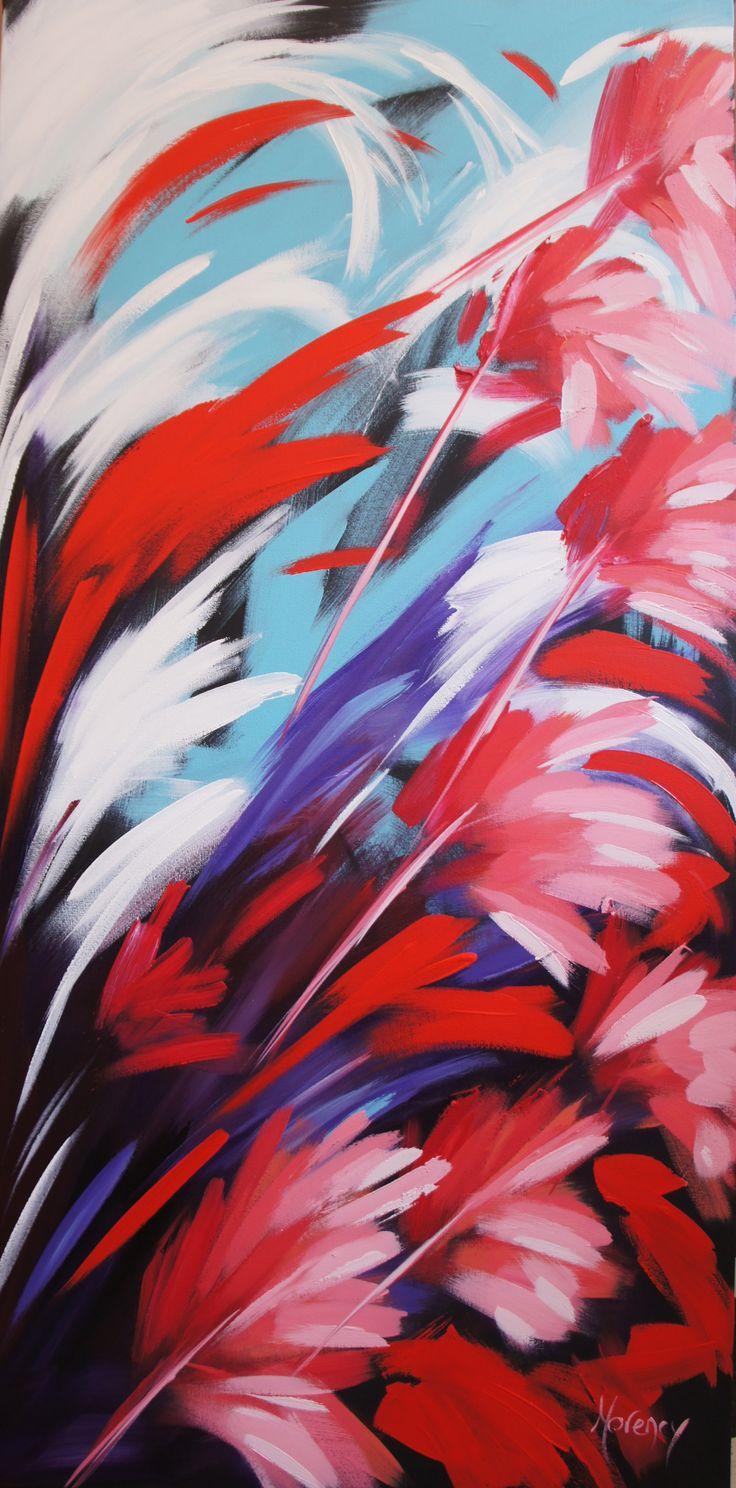 Le son du Coeur, acrylique de l'artiste Christine Morency