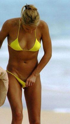 yellow Kournikova bikini