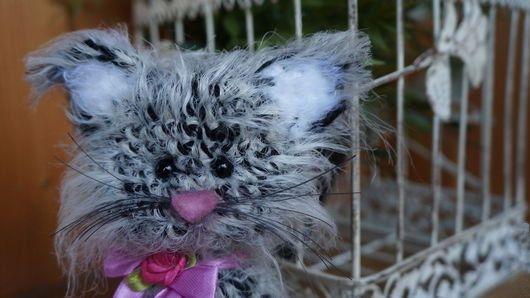 Plush white and black cat soft toy Cat doll Cat от PlushCreation
