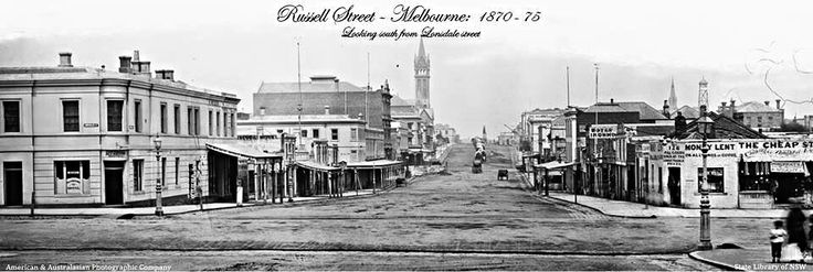 Russell Street Melbourne 1870s.