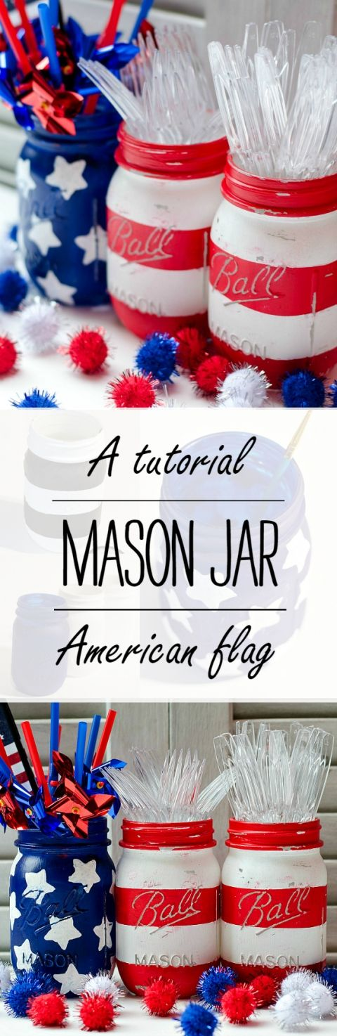 mason-jar-american-flag @it all started with paint
