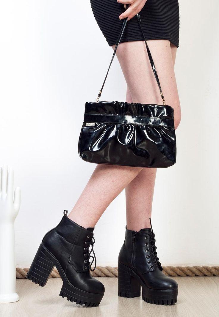 Shiny black bag 70s faux patent leather vintage purse ...