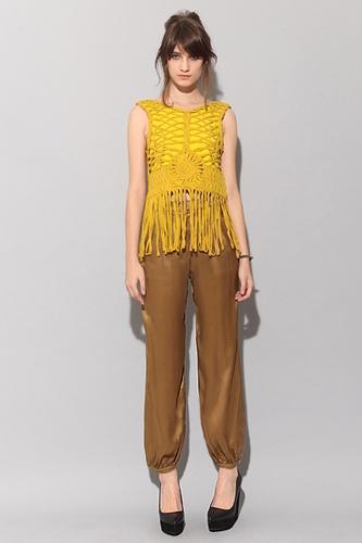 Tops Sab2845, Pixie Marketing, Fashion Cent, Knits Fashion, Pretty Lust, Fringes Tops, Crochet Tops, Macrame Fringes, Crochet Inspiration
