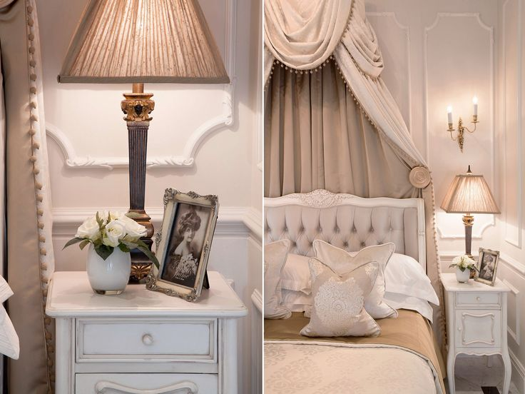 Luxury Bedroom with bespoke coronet and furniture, inspired by Louis XV era | JHR Interiors