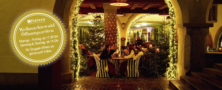 weihnachtswald zunfthaus restaurant pfistern luzern shop 39 s dining pinterest fondue and. Black Bedroom Furniture Sets. Home Design Ideas