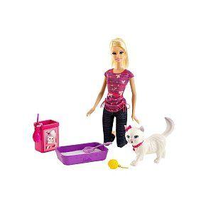 Poupée Barbie - Animal Rigolo Barbie et Chat BDH76 à 19,00 € chez Toys R Us #barbie #jouet #noel