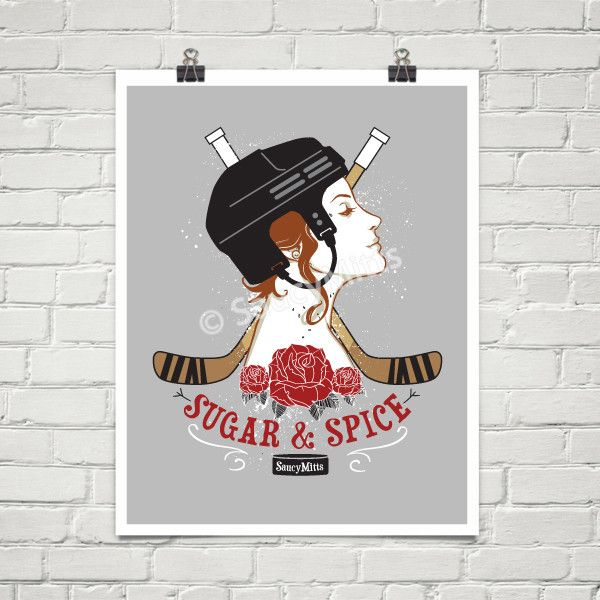 Sugar and Spice Women's Hockey Poster