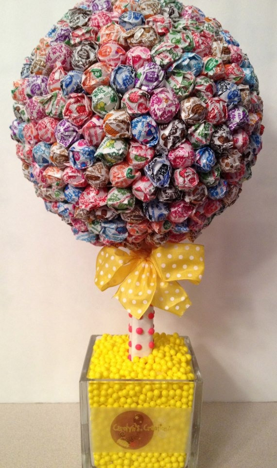 Lollipop topiary quite easy go to michaels or wal mart