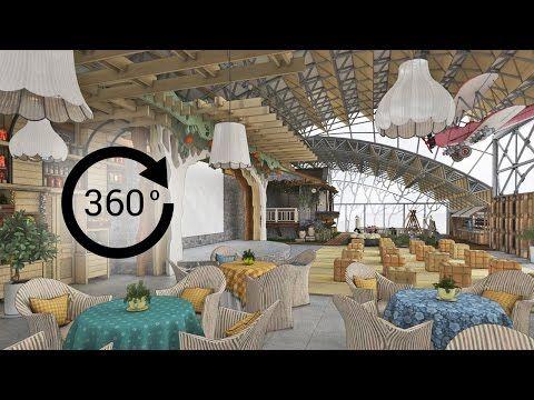 360° - 3D render   Интерьер   Детский развлекательный комплекс «ФЕРМА». Вид 2 - YouTube