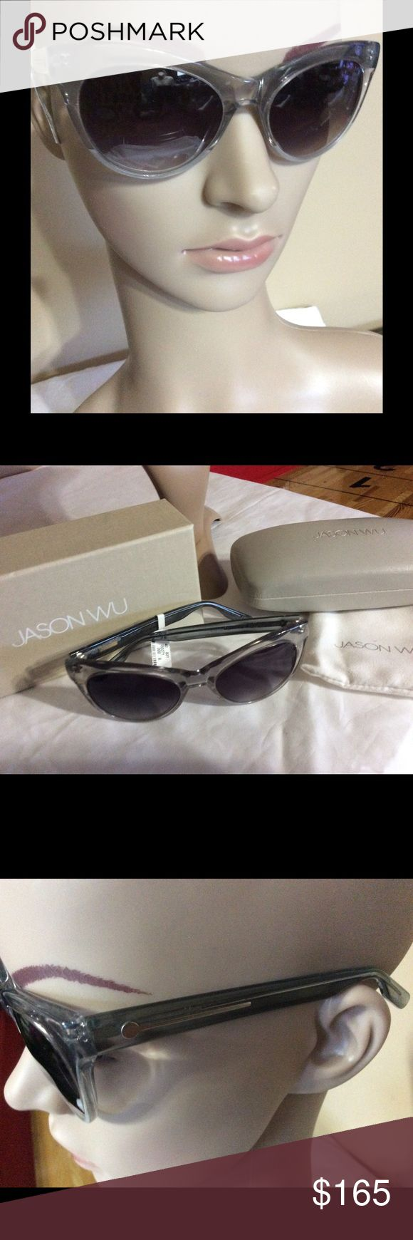 Jason Wu- NWT- woman's cat eye sunglasses way- Jason Wu gray cat eye style sunglasses. Plastic frames. Comes with sunglass bag- case and box. Enjoy Jason Wu Accessories Glasses