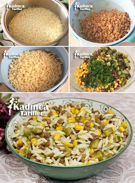 MERCİMEKLİ ARPA ŞEHRİYE SALATASI TARİFİ http://kadincatarifler.com/mercimekli-arpa-sehriye-salatasi-tarifi