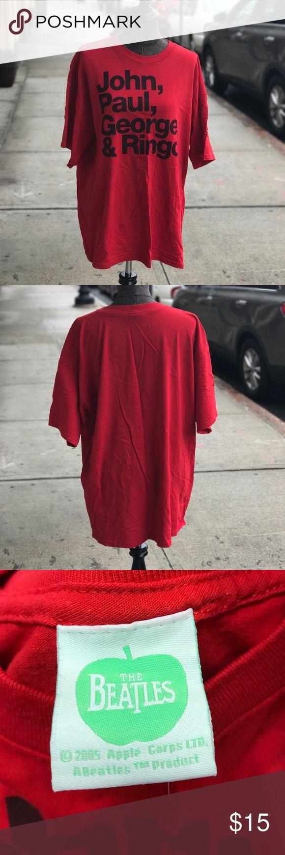 Beatles John Paul George Ringo Red T-Shirt XXL Beatles John Paul George Ringo Red T-Shirt XXL Tops Tees - Short Sleeve