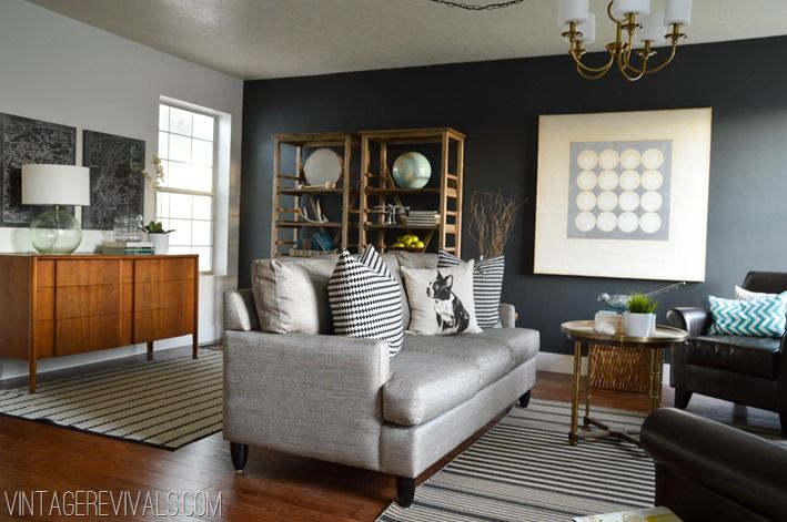 in love with this couch, and the rugs, and the paint, everything.