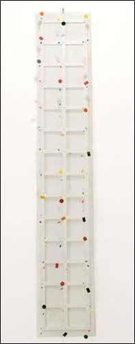 Daniel Dezeuze | Critique | Daniel Dezeuze. Peintures qui perlent | Paris 3e. Galerie Daniel Templon