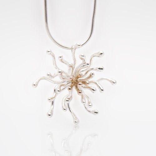 Designer Gold and Silver Pendant. Nebula by Martina Hamilton