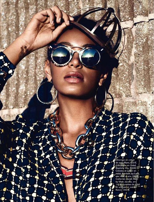 Solange Knowles - Glamour (France) July 2012: Graphics Prints, Fashion Icons, Glamour Magazines, Mixed Matching, Mixed Prints, Glamour France, Solange Style, Solange Knowles, Africans Prints
