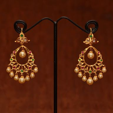 chand bali designs in gold - Google Search