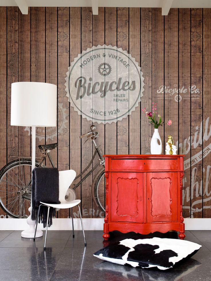 Brown Bike digital photo wallpaper collection Lef - BN Wallcoverings