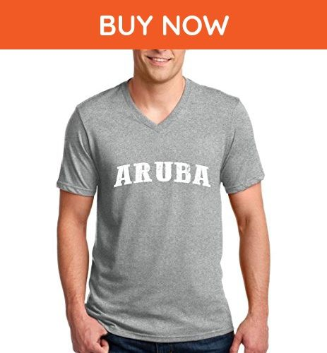 Ugo What to do in Aruba? Travel Time Flag Map Guide Flights Top 10 Things To Do Ringspun Men V-Neck T-Shirt - Cities countries flags shirts (*Amazon Partner-Link)