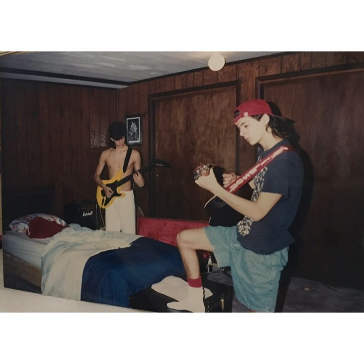 """Thank you everyone who have submitted their youth photos to the open call. THANK YOU for sharing your stories and part of your lives with us. First up is Joseph Gilbert from Omaha Nebraska. 1st photo: Brothers Joseph & James Gilbert Mid 1990's, Omaha, Nebraska. In their finished basement bedroom. """"We liked Eddie Van Halen and Steve Via but Eddie Vedder had so much more to say -conflicted teenagers.""""— James Gilbert  2nd photo: James gilbert, 1993, Van Halen Tour. """"I entered a local radio…"""