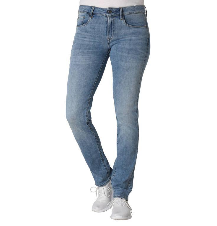 "Jeans ""3301 Deconst Mid Straight Wmn"", Super-Stret…"