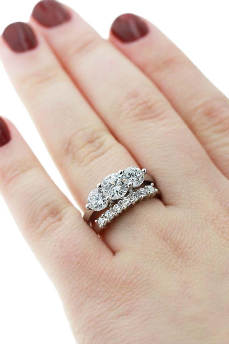 Stone Wedding Rings