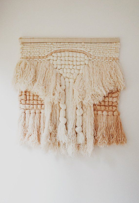 Large Textile Wall Hanging Handmade Multi Layer Yarn Art Vintage 1970s In 2018 Modern Farmhouse Pinterest Textiles And Weaving