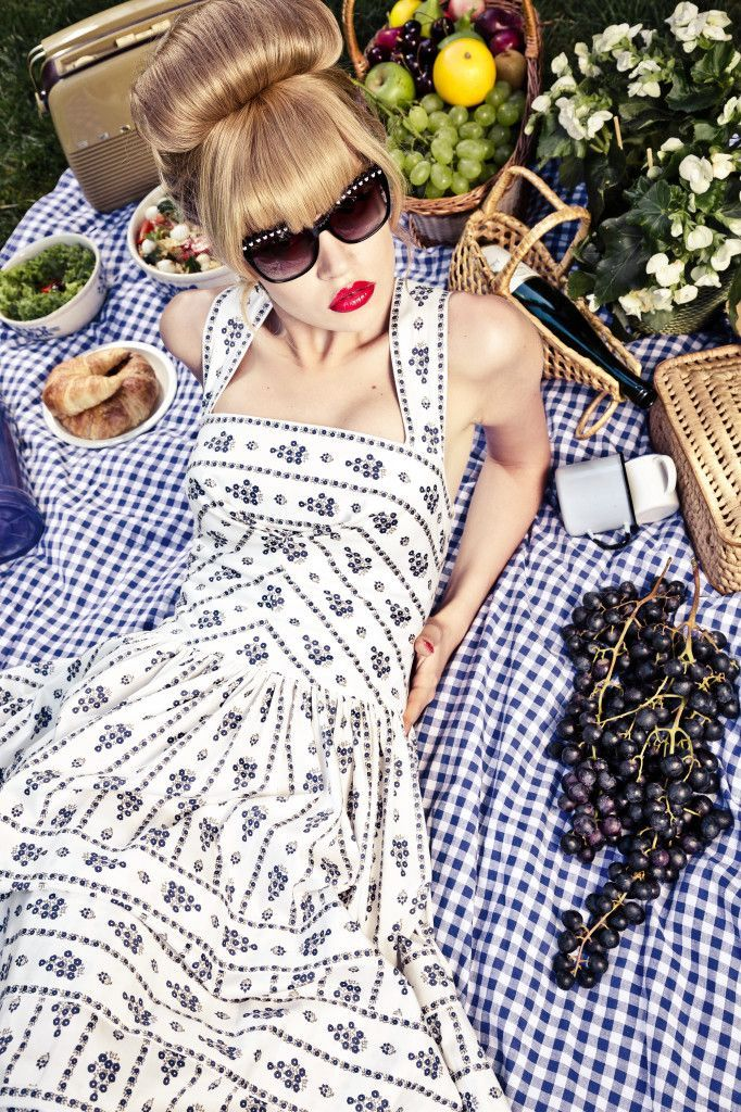 Lena Hoschek | White Country Dress | Picnic Collection