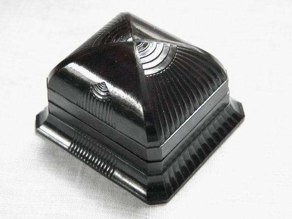 Vintage Bakelite Ring Box, 20s Art Deco